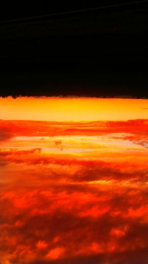 Upside Down Confusion Sunset Red Backgrounds Orange Color Dramatic Sky Cloud - Sky