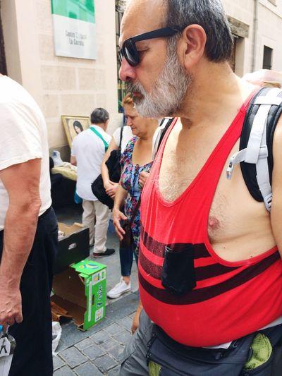 Men Flea Market Streetphotography Madrid Rastro City Real People