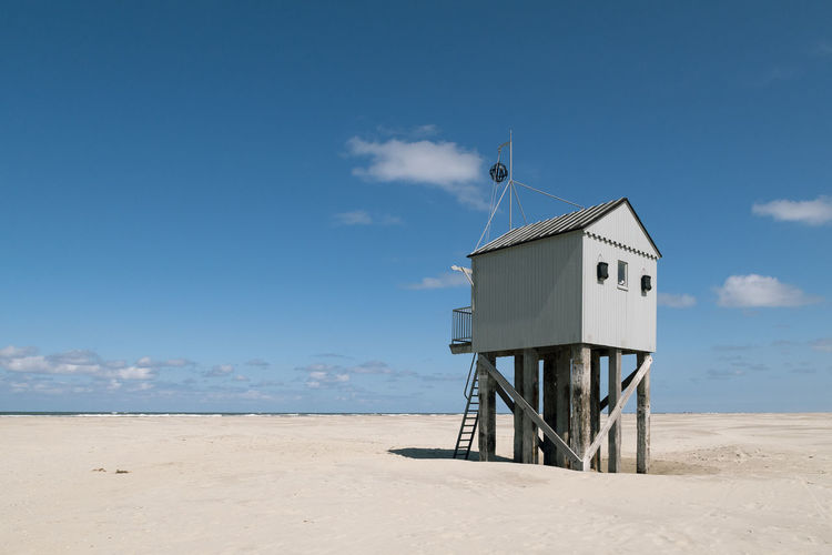 safehouse Safe House Beach Blue Day Nature No People North Sea Outdoors Sand Sea Sky Summer Sunlight Tranquil Scene Tranquility