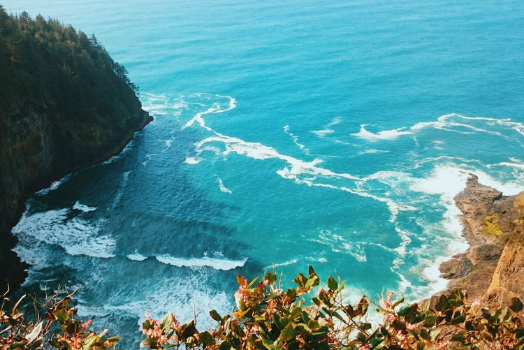 Blue Sea Oregon Oregon Coast Pacific Northwest  Pacific Ocean Cascadia Blue Nature Ocean Cape Lookout