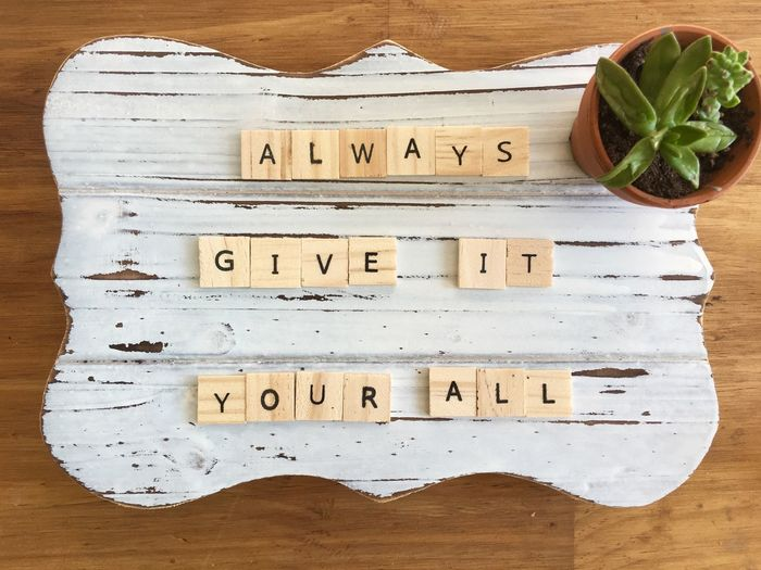 ALWAYS GIVE IT
