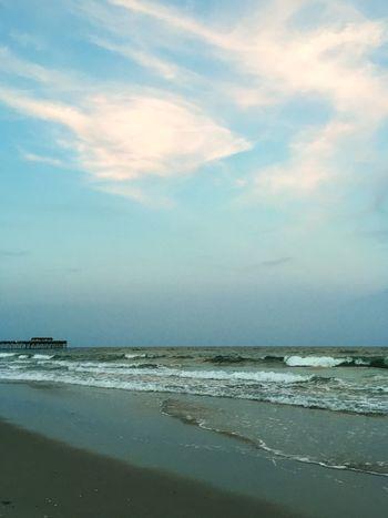 Dusk at the beach. Beach Dusk Ocean View Ocean