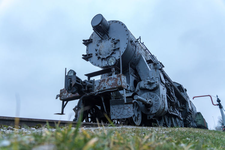 Steam locomotive at Haapsalu railway station Abandoned Cloud - Sky Day Field Grass Land Locomotive Machinery Metal Nature No People Outdoors Plant Rail Railroad Selective Focus Sky Steam Locomotive Steam Train Train Train - Vehicle War