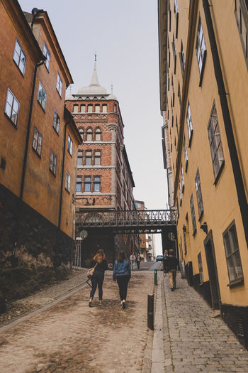 Bastugatan in Stockholm Sweden. Architecture Bastugatan Building Exterior Built Structure Outdoors Sky Stockholm Travel Destinations Urban Urban Geometry Urban Landscape Vintage Walk Place Of Heart Been There. Stories From The City
