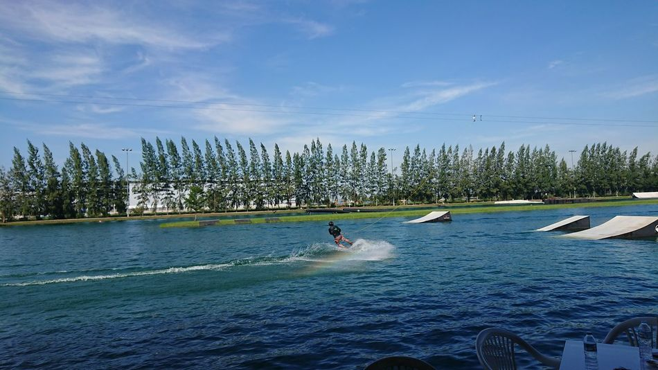 Vacations Outdoors Sky Nature Sport Sportsman Tree Hanging Out Enjoying Life Travel Destinations Water Sports Wakeboarding In Action Activity Action Shot