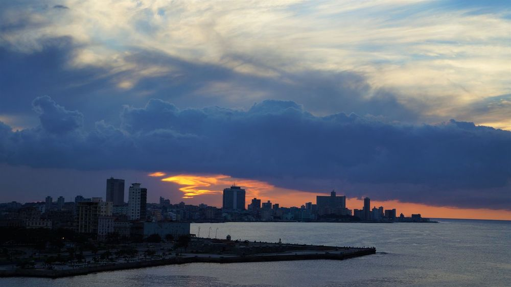 City Cityscape Cloud Horizon Line Outdoors Sky Sun Set Water
