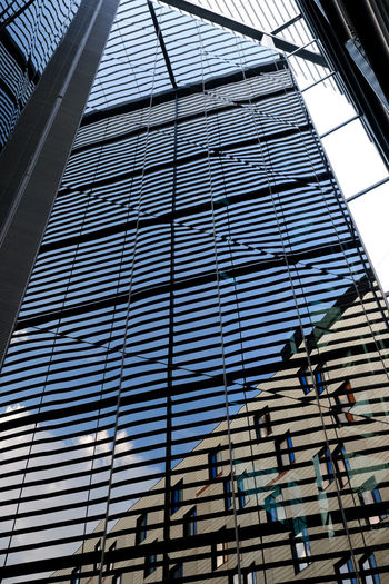 Building reflections Building Exterior Architecture Building No People Modern Office Building Exterior Glass - Material Office City Pattern Skyscraper Sunlight Reflection Built Structure Metal Architecture_collection Light And Shadow Reflection_collection Mirror Reflection City Life Glass Building Window Reflection Glass Building England London United Kingdom