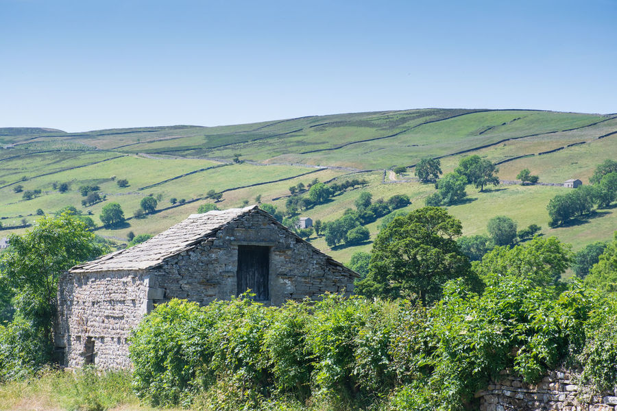 Barn Dales Yorkshire Architecture Beauty In Nature Building Exterior Countryside Environment Green Color Landscape No People Rolling Landscape Rural Scene Scenics - Nature Stone Tranquility