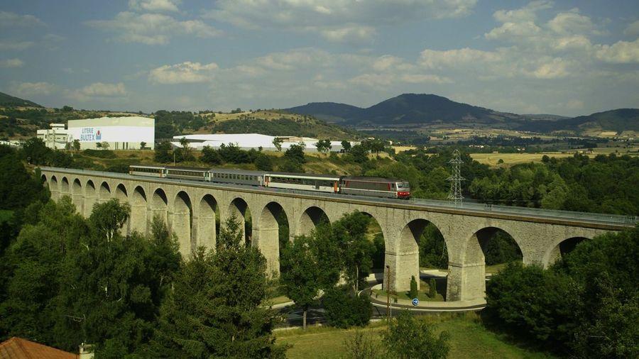 Bridge Brücke Cevennenbahn Eisenbahnbrüc Langeac Ligne Des Cevennes Literie Bultex Pont Railway Bridge Viadduc Viadukt