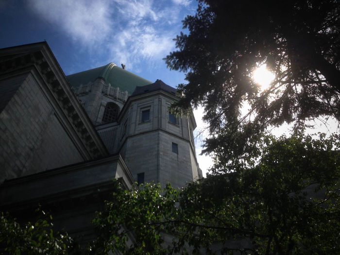 Architecture Building Built Structure Church Cloud Low Angle View No People Oratorium Outdoors Sunbeam Sunny