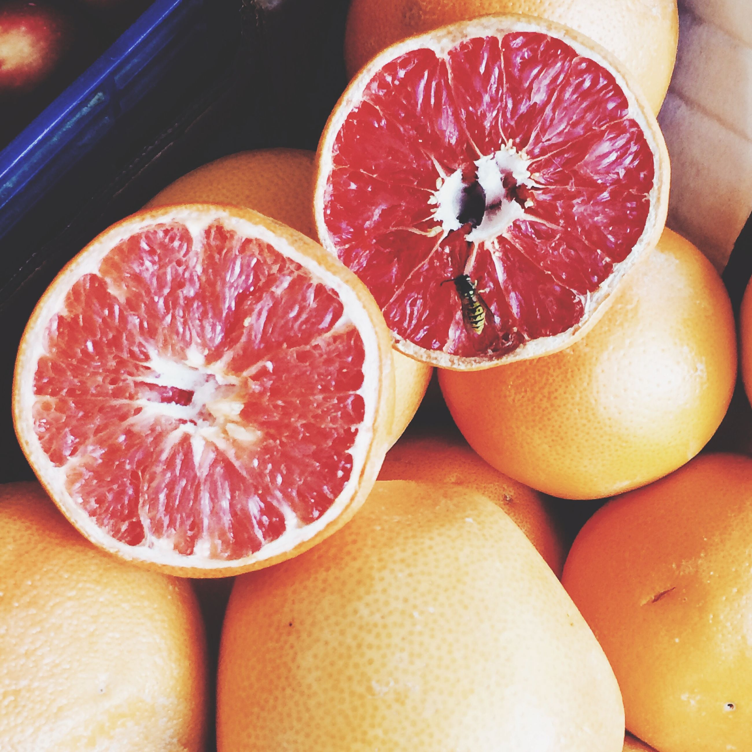 food and drink, food, freshness, fruit, healthy eating, indoors, still life, close-up, slice, orange color, orange - fruit, juicy, red, table, ripe, citrus fruit, cross section, organic, halved, healthy lifestyle