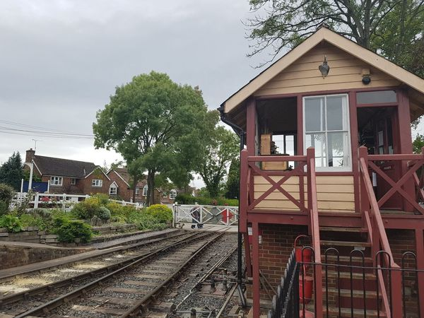 Tenterden Town Signal Box and Level Crossing 2017 2017 2017 Year England, UK Great Britain K&ESR K&ESR Railway Kent UK Tenterden Steam Railway Tourist Attraction  Travel Photography Architecture Building Exterior Built Structure Day House Kent England No People Outdoors Rail Transportation Railroad Track Sky Transportation Travel And Tourism Travelphotography Tree