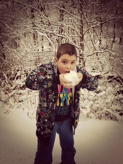 Snow Children Outdoors