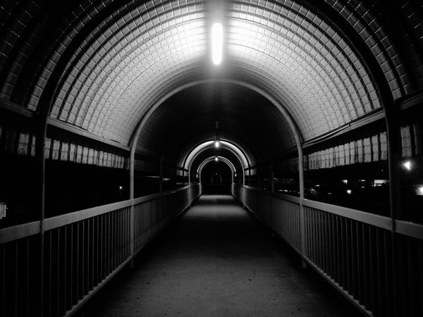 end of the tunnel The Way Forward Illuminated Architecture Indoors  Arch Tunnel Built Structure No People Day