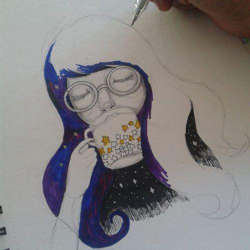 glowing darkness Doodle Drawing Illustration Sketch Sketch_daily Arts_help Art Artist Art_sanity Artfido Phanasu Unipin Sketchbook Gallery Art_spotlight Instaartist