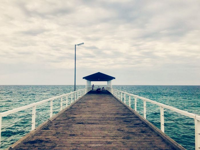 Grange jetty Sea Sky Cloud - Sky Water Horizon Over Water Direction Horizon Architecture Nature Built Structure Beauty In Nature Tranquil Scene Pier Scenics - Nature Railing Tranquility Beach Day No People The Way Forward