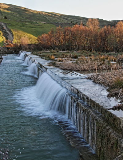 fiume troina Beauty In Nature Dam Day Lunga Esposizione Nature Outdoors Scenics Travel Destinations Tree Water Waterfall