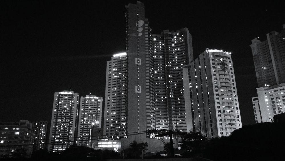 Cityscape City Skyscraper Modern Built Structure Urban Skyline Downtown District Architecture Night Manila Manila, Philippines Taftavenue Tower Illuminated
