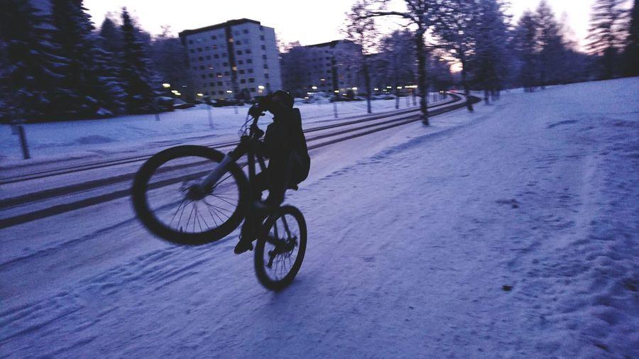 Wheelie Winter First Eyeem Photo