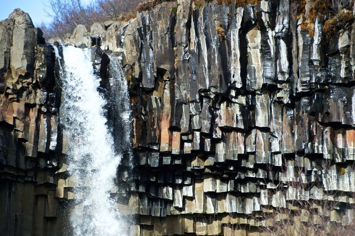 Basalt Basalt Columns Hiking Iceland No People Old Outdoors Power In Nature Roadtrip With The Cousins Rock Stone Svartifoss Water Waterfall