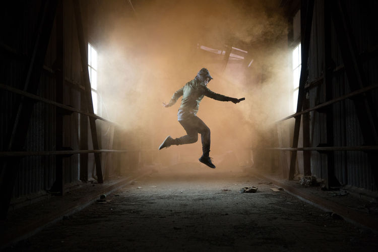 Breakdancing Day Energetic Full Length Indoors  Jumping Men Mid-air One Person People Performance Skill  Stunt