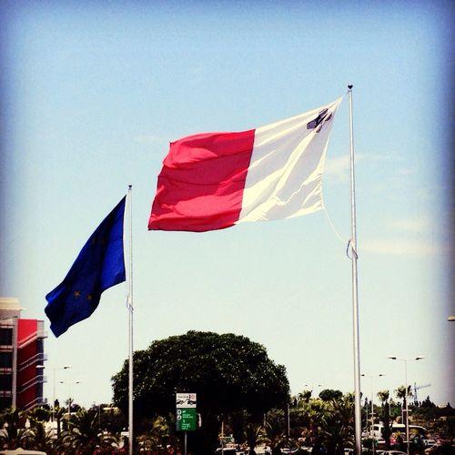 Malta Airport Flag Europe Traveling Me Around The World Taking Photos Wind