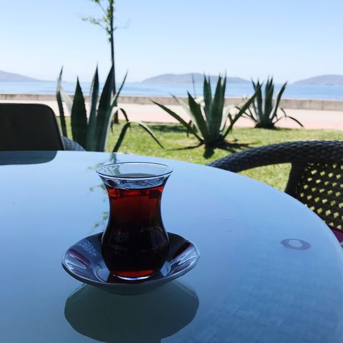 Çay Istanbul Turkey Land Turkishtea Tea çay Table Nature Food And Drink Drink Refreshment Day No People Water Sky Plant Freshness Outdoors