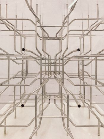 3D Maze Technology Future Conection Pattern Abstract No People Architecture Built Structure Indoors  Pattern Wall - Building Feature Full Frame Backgrounds Metal Design Symmetry Connection Railing Electricity  Shape