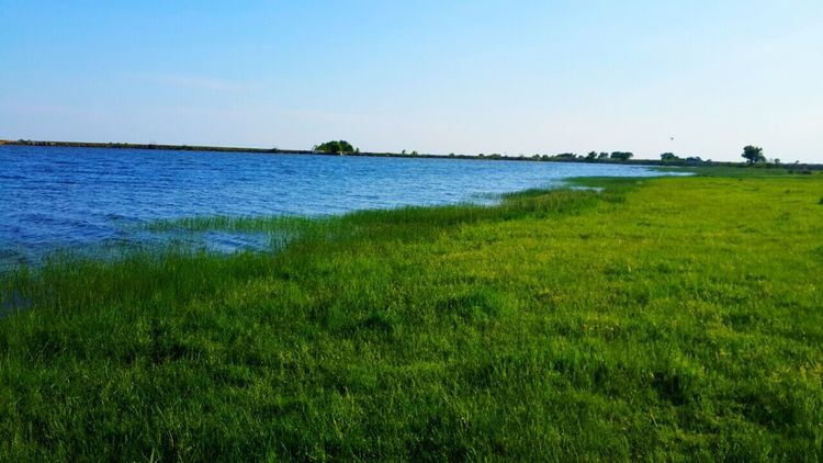 Blue and green 😌 Nature Lake Village Lake View Taking Photos Check This Out Water Sky Blue Green