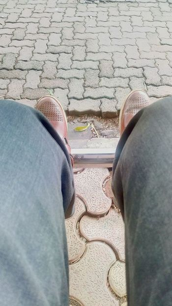 Seated Focus Line Of View Symmetry Ssclix SSClicks SSClickPics SSClickpix Mobilephotography Low Section Human Leg Men High Angle View Arid Climate Footwear Pair Shoe Human Foot Personal Perspective Pebble Stone Tile
