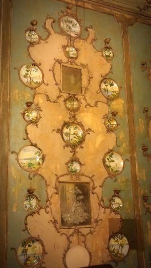 Palazzo Comitini, Palermo. Detail of Princess 's Boudoir. TheOOMission Palermo Sicily Palace Palermo, Italy Porcelain Ornaments Muranoglass Boudoir Secretroom