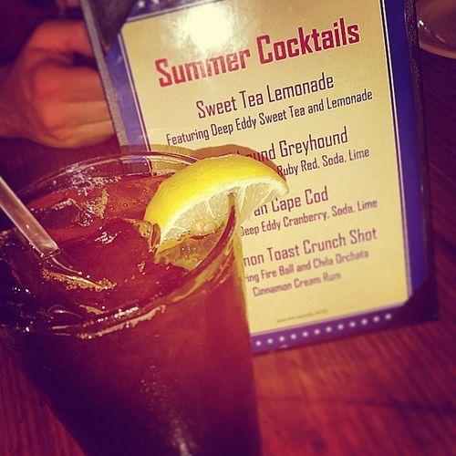 Sweet Tea Lemonade: the Adultbeverage version. Saltlickbbq Deepeddyvodka