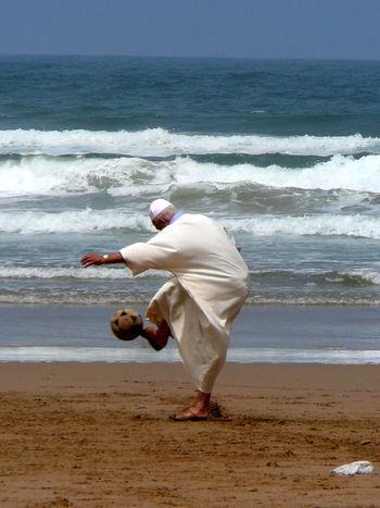 Football Mirleft Life Morocco MoroccoTrip Beach Mirleft Play Sea Water Waves EyeEmNewHere