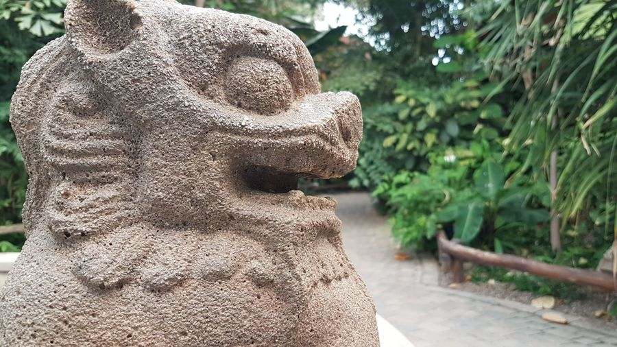 Asian  ASIA Dragon Stone Figure Statue Zoo Sculpture Statue Tree Religion Human Representation Art And Craft Close-up Carving - Craft Product Ancient Civilization Civilization Old Ruin