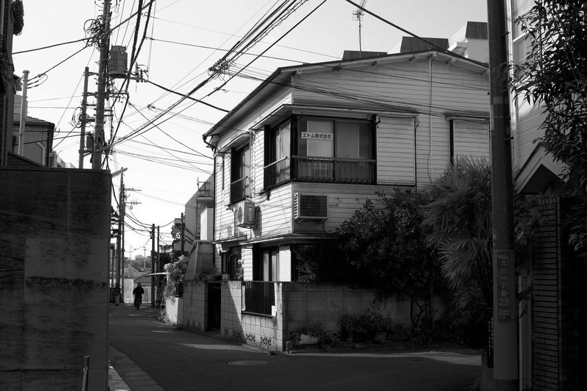 Japan Architecture Building Building Exterior Built Structure Cable City Complexity Day Electricity  Electricity Pylon House Nature No People Outdoors Plant Power Line  Power Supply Residential District Road Sky Street Technology Telephone Line Tree