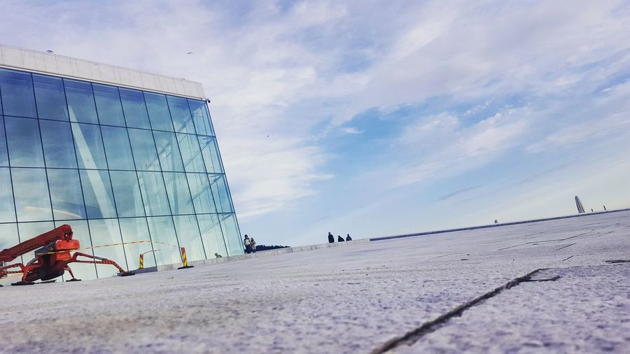 Sky Day Outdoors Building Exterior Scenics Built Structure Architecture Modern Facades Low Angle View Oslo Opera House Glass Building City Operahouse Cityscape