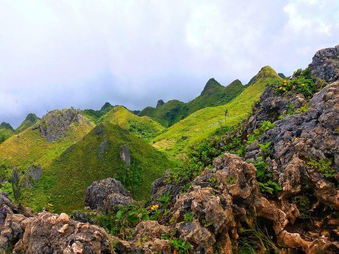 Breathtaking View Mountain Landscape Osmeña Peak Trekking Worth It  Green Beauty In Nature Clouds Fog Inspirations Everywhere.