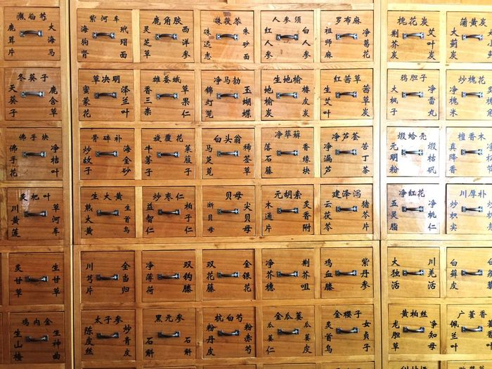 Full Frame Shot Of Wooden Lockers