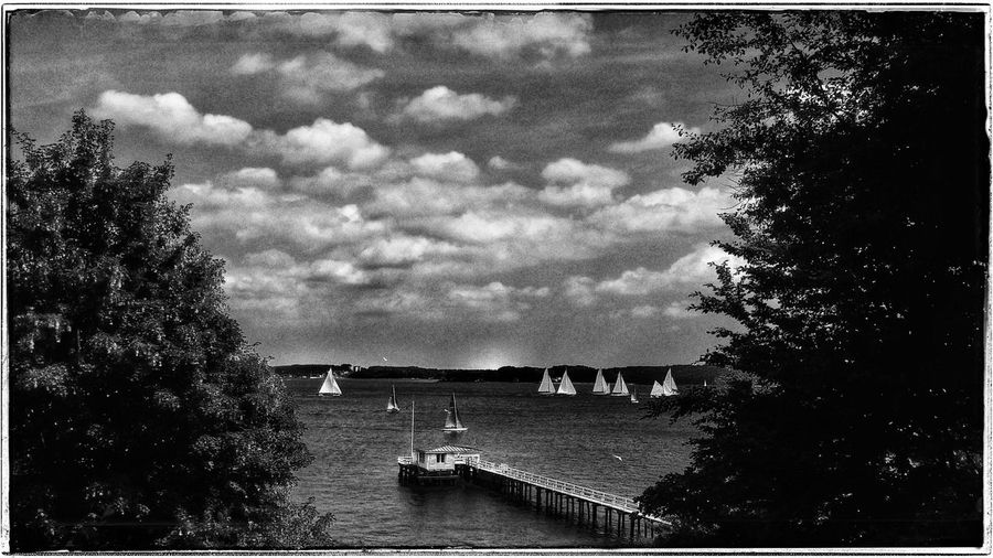 Smartphone Photography Landscape Sea Sea And Sky Seaside Ship Sailing Kiel