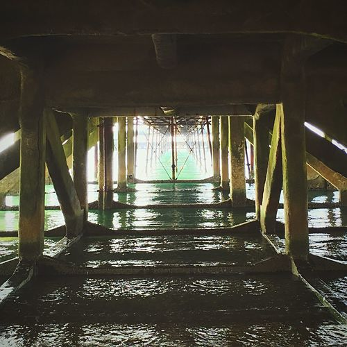View from Under a Pier Sea Sandown Isle Of Wight