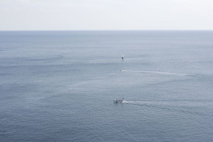 Britain Minimalist Ocean View Beauty In Nature Big Blue Big Sea Blue Water Boat Boats Boats And Water Cornwall Day England Minimal Minimalism Nature Nautical Vessel No People Ocean Outdoors Sailing Scenics Sea Sea And Sky Water