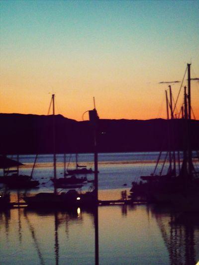 Reflection Sunset Evening Smile