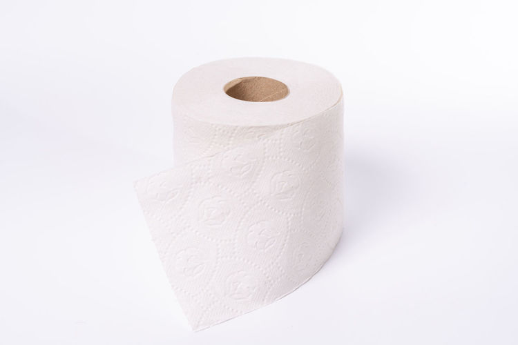 High angle view of paper against white background