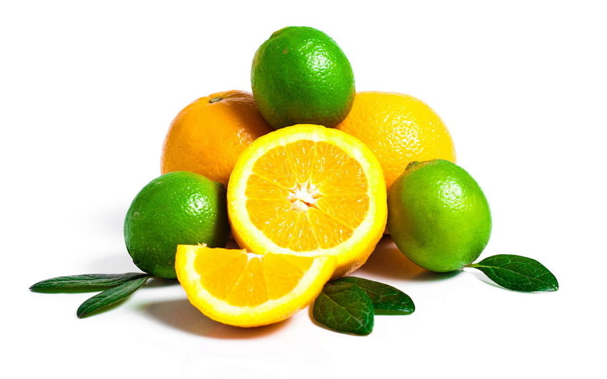 Lemon Citrus Fruit Lime Green Color Fruit Healthy Eating White Background Freshness Food And Drink Leaf Vitamin C Healthy Lifestyle Vitamin Food No People Fermenting Indoors  Close-up Mint Leaf - Culinary Nature