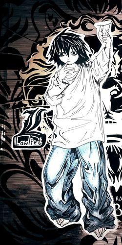 Досмотрела аниме, рыдала над Элом, и вот пожалуйста .-. My Art Art L Lawliet Death Note Anime срисовка