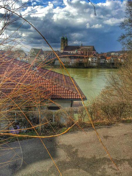 Von Stein in der Schweiz über den Rhein Fotografiert Bad Säckingen in Germany das Münster Aargau Baden-Württemberg  Cityscapes The Places I've Been Today