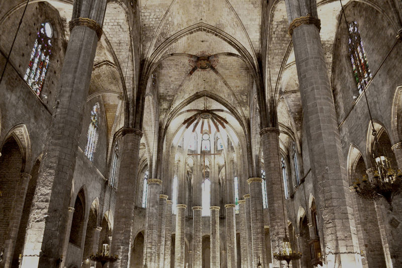 Architecture Barcelona Basilica Basílica De Santa Maria Del Mar ElBorn High Angle View Light And Shadow SPAIN