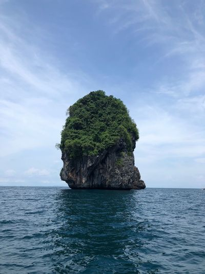 Sea Sky Beauty In Nature Water Scenics - Nature Tranquility Tranquil Scene Waterfront Cloud - Sky Nature No People Day Idyllic Horizon Horizon Over Water Rock Blue Non-urban Scene Outdoors Stack Rock Turquoise Colored Thailand