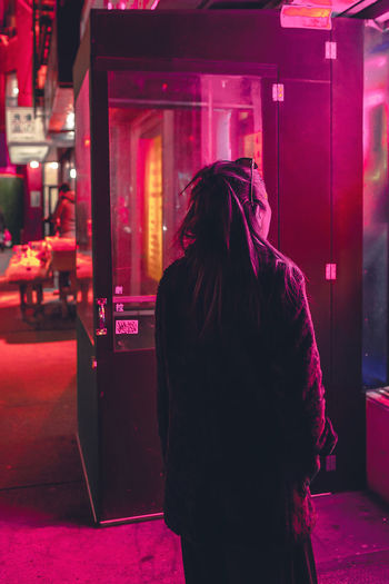 Captured By Mark Kim Mkvisualvoice Newyorkphotographer Night Lights Portrait Of A Woman Travel Chinatown New York I Was There Imagemaker Light And Shadow Neon Color Neonlight Streetphotography