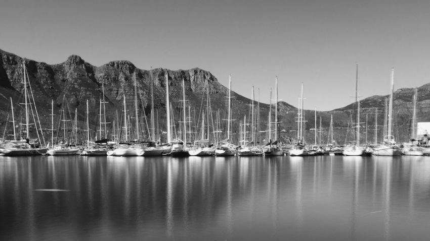 Safety in numbers. Boats Eye4black&white  Black And White EyeEm Best Shots